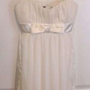 Ruby Rox Formal Prom Ivory Glitter Dress Medium